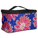 Pink Daisy Pattern Cosmetic Storage Case View2