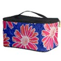 Pink Daisy Pattern Cosmetic Storage Case View3