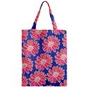 Pink Daisy Pattern Zipper Classic Tote Bag View1