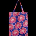 Pink Daisy Pattern Zipper Classic Tote Bag View2