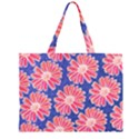 Pink Daisy Pattern Large Tote Bag View2