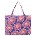 Pink Daisy Pattern Medium Tote Bag View1