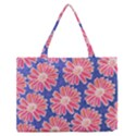 Pink Daisy Pattern Medium Zipper Tote Bag View1