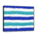 Metallic Blue Glitter Stripes Deluxe Canvas 20  x 16   View1