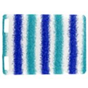 Metallic Blue Glitter Stripes Kindle Touch 3G View1