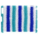 Metallic Blue Glitter Stripes Apple iPad 2 Hardshell Case (Compatible with Smart Cover) View1