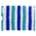 Metallic Blue Glitter Stripes Apple iPad 3/4 Hardshell Case (Compatible with Smart Cover) View1