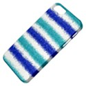Metallic Blue Glitter Stripes Apple iPhone 5 Classic Hardshell Case View4