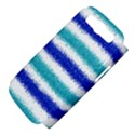 Metallic Blue Glitter Stripes Samsung Galaxy S III Hardshell Case (PC+Silicone) View4