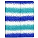 Metallic Blue Glitter Stripes Apple iPad Mini Flip Case View1