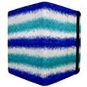 Metallic Blue Glitter Stripes Apple iPad Mini Flip Case View4