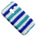 Metallic Blue Glitter Stripes Samsung Galaxy Ace Plus S7500 Hardshell Case View5