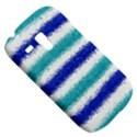 Metallic Blue Glitter Stripes Samsung Galaxy S3 MINI I8190 Hardshell Case View5