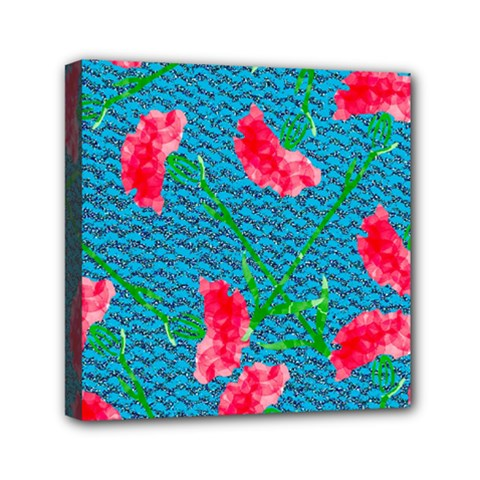 Carnations Mini Canvas 6  X 6
