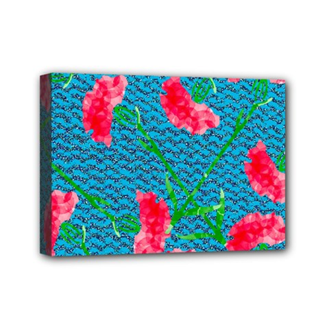 Carnations Mini Canvas 7  X 5