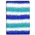 Metallic Blue Glitter Stripes iPad Mini 2 Flip Cases View1