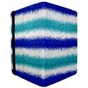 Metallic Blue Glitter Stripes iPad Mini 2 Flip Cases View3