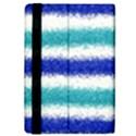 Metallic Blue Glitter Stripes iPad Mini 2 Flip Cases View4