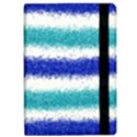 Metallic Blue Glitter Stripes iPad Air Flip View2