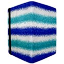 Metallic Blue Glitter Stripes iPad Air Flip View3