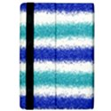 Metallic Blue Glitter Stripes iPad Air Flip View4