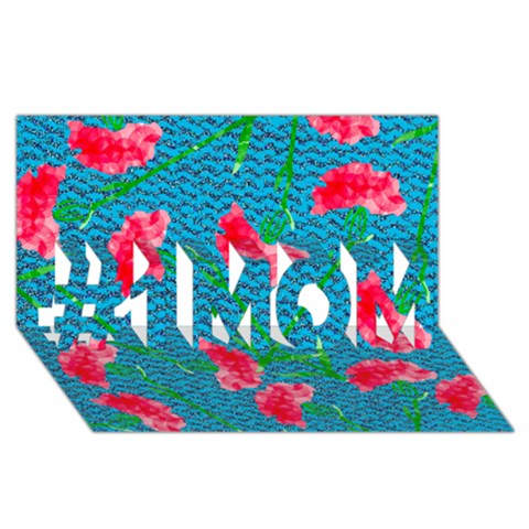 Carnations #1 MOM 3D Greeting Cards (8x4)