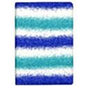 Metallic Blue Glitter Stripes iPad Air 2 Flip View1