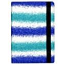 Metallic Blue Glitter Stripes iPad Air 2 Flip View2