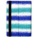 Metallic Blue Glitter Stripes iPad Air 2 Flip View4