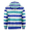 Metallic Blue Glitter Stripes Men s Pullover Hoodie View2