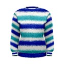 Metallic Blue Glitter Stripes Women s Sweatshirt View1