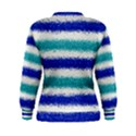 Metallic Blue Glitter Stripes Women s Sweatshirt View2