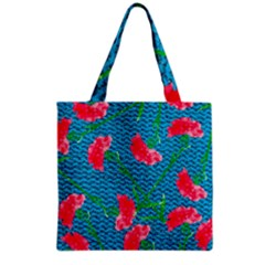 Carnations Grocery Tote Bag