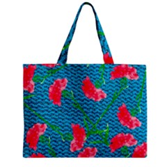 Carnations Zipper Mini Tote Bag