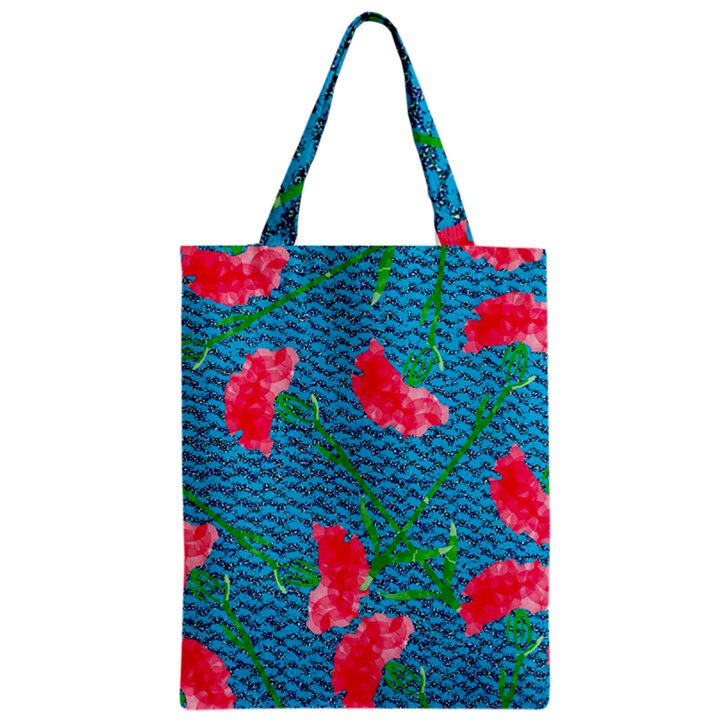 Carnations Zipper Classic Tote Bag