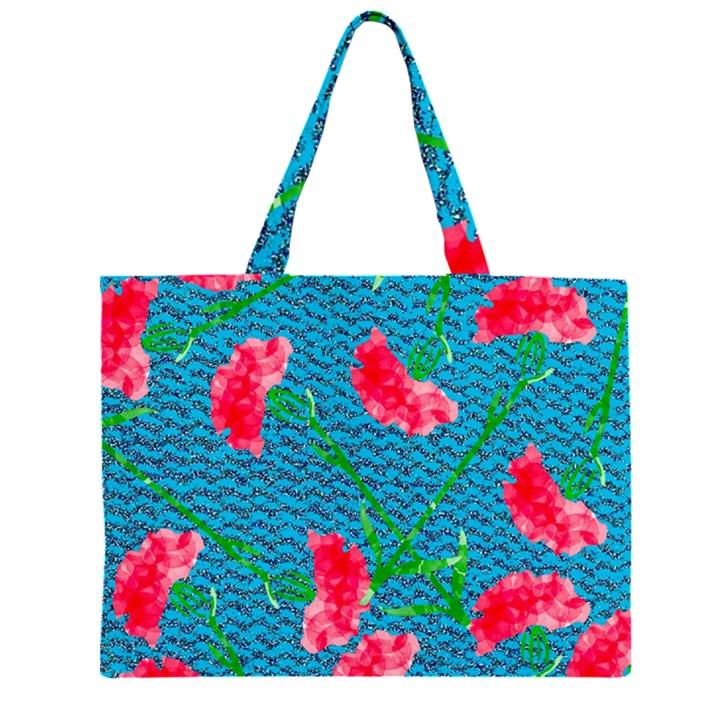 Carnations Large Tote Bag