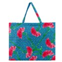 Carnations Zipper Large Tote Bag View1
