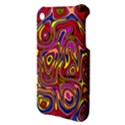 Abstract Shimmering Multicolor Swirly Apple iPhone 3G/3GS Hardshell Case View3