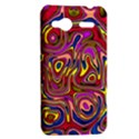 Abstract Shimmering Multicolor Swirly HTC Radar Hardshell Case  View2