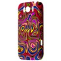 Abstract Shimmering Multicolor Swirly HTC Sensation XL Hardshell Case View3
