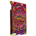 Abstract Shimmering Multicolor Swirly Apple iPad 3/4 Hardshell Case View2