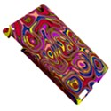Abstract Shimmering Multicolor Swirly Apple iPad 3/4 Hardshell Case View5