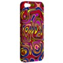 Abstract Shimmering Multicolor Swirly Apple iPhone 5 Hardshell Case View2