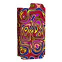 Abstract Shimmering Multicolor Swirly Apple iPhone 5 Hardshell Case (PC+Silicone) View2