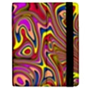 Abstract Shimmering Multicolor Swirly Apple iPad 2 Flip Case View2