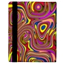 Abstract Shimmering Multicolor Swirly Apple iPad 2 Flip Case View3