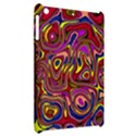 Abstract Shimmering Multicolor Swirly Apple iPad Mini Hardshell Case View2