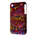 Abstract Shimmering Multicolor Swirly Apple iPhone 3G/3GS Hardshell Case (PC+Silicone) View3
