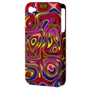 Abstract Shimmering Multicolor Swirly Apple iPhone 4/4S Hardshell Case (PC+Silicone) View3
