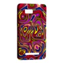 Abstract Shimmering Multicolor Swirly HTC One SU T528W Hardshell Case View2